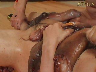 Genki Dgen005 Morale Lesbian Wriggles And Coming Octopus Wriggles 004